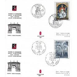 FDC ITALIA Grolla Club 08/04/1989 Patrimonio Artistico 2 b. APG