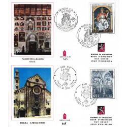 FDC ITALIA Grolla Club 08/04/1989 Patrimonio Artistico 2 buste