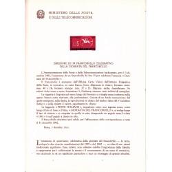 Italia Bollettino illustrativo 1961 n° 80 Giornata del francobollo