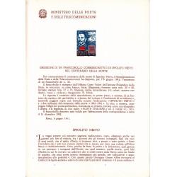 Italia Bollettino illustrativo 1961 n° 75 Ippolito Nievo
