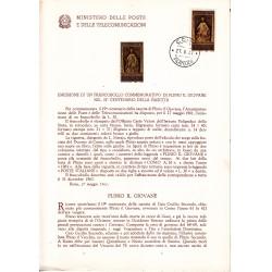 Italia Bollettino illustrativo 1961 n° 74 Plinio Il Giovane + affrancatura in FDC