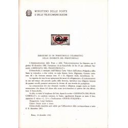 Italia Bollettino illustrativo 1960 n° 71 Giornata Del Francobollo