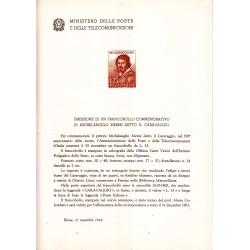 Italia Bollettino illustrativo 1960 n° 70 Caravaggio