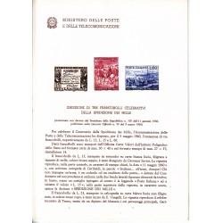 Italia Bollettino illustrativo 1960 n° 66 Spedizione dei mille
