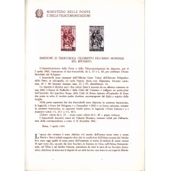 Italia Bollettino illustrativo 1960 n° 65 Anno Mondiale Del Rifugiato