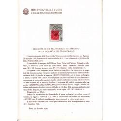 Italia Bollettino illustrativo 1959 n° 64 Giornata del Francobollo