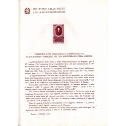 Italia Bollettino illustrativo 1958 n° 48 Evangelista Torricelli