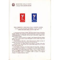 Italia Bollettino illustrativo 1958 n° 46 Europa CEPT