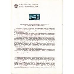 Italia Bollettino illustrativo 1958 n° 45 Amicizia Italo Brasile
