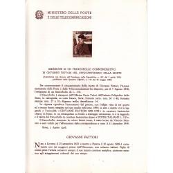 Italia Bollettino illustrativo 1958 n° 44 Giovanni Fattori