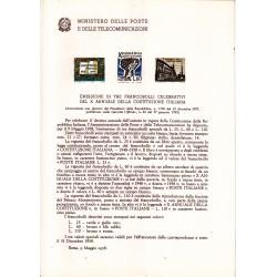 Italia Bollettino illustrativo 1958 n° 39 Costituzione Italiana
