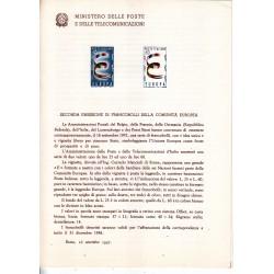 Italia Bollettino illustrativo 1957 n° 30 Europa CEPT