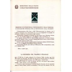 Italia Bollettino illustrativo 1957 n° 29 Educazione Stradale
