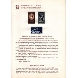 Italia Bollettino illustrativo 1957 n° 28 Antonio Canova