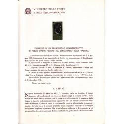 Italia Bollettino illustrativo 1957 n° 27 Ovidio Nasone