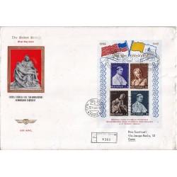 FDC VATICANO The Golden Series 1964 Esposizione New York raccomanata