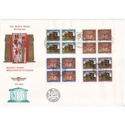FDC VATICANO The Golden Series 1964 Monumenti Nubia in quartina