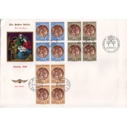 FDC VATICANO The Golden Series 1963 Natale in quartina