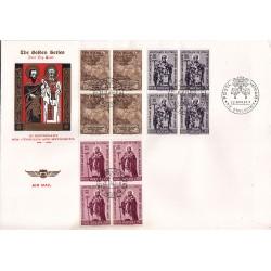 FDC VATICANO The Golden Series 1963 Apostolato S. Cirillo e Metodio in quartina
