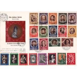 FDC VATICANO The Golden Series 29/09/1963 Apertura Concilio Vaticano II con 2 serie