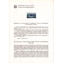 Italia Bollettino illustrativo 1956 n° 26 Risparmio Postale