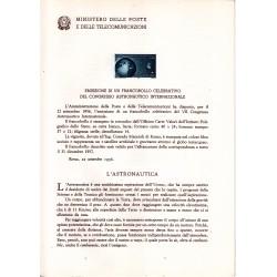 Italia Bollettino illustrativo 1956 n° 24 Congresso Astronautico