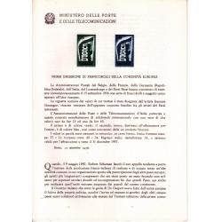 Italia Bollettino illustrativo 1956 n° 23 Europa CETP