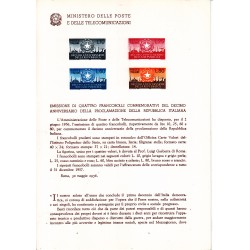 Italia Bollettino illustrativo 1956 n° 21 Proclamazione della Repubblica