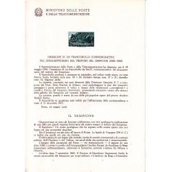 Italia Bollettino illustrativo 1956 n° 20 Traforo del Sempione