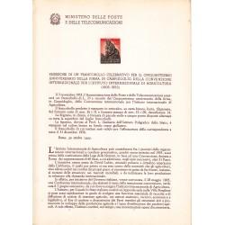 Italia Bollettino illustrativo 1955 n° 13 Istituto internaz. Agricoltura