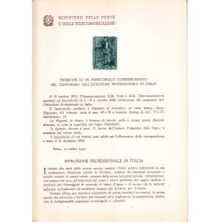 Italia Bollettino illustrativo 1955 n° 12 Istruzione Professionale in Italia