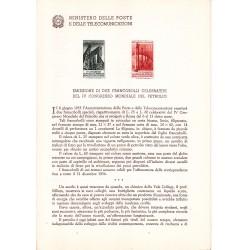 Italia Bollettino illustrativo 1955 n° 8 Congresso Mondiale del Petrolio