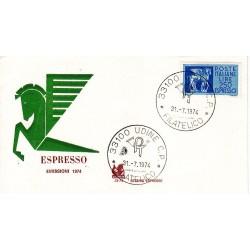 FDC ITALIA BUCINTORO 30/07/1974 FDC 31/07/1974 Espresso A/UD