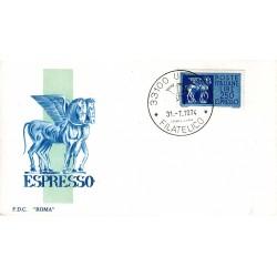 FDC ITALIA Roma 31/07/1974 Espresso 250 £. ANNULLO/UDINE