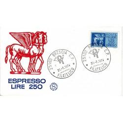 FDC ITALIA Filagrano 31/07/1974 Espresso 250 £. A/Brescia