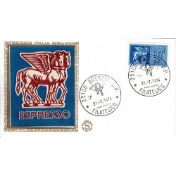 FDC ITALIA Filagrano Gold 31/07/1974 Espresso 250 £. A/BR