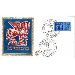 FDC ITALIA Filagrano Gold 31/07/1974 Espresso 250 £. A/FO