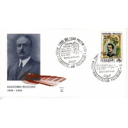 FDC ITALIA ALA 08/08/1974 FDC Giacomo Puccini AS/TORRE DEL LAGO