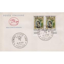 FDC ITALIA Poste Italiane 08/08/1974 Giacomo Puccini A/GE dittico bdf
