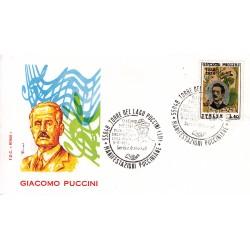 FDC ITALIA Roma 08/08/1974 Giacomo Puccini. AS/TORRE V1