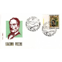 FDC ITALIA Roma 08/08/1974 Giacomo Puccini. AS/TORRE AC bdf