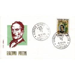 FDC ITALIA Roma 08/08/1974 Giacomo Puccini. A/GE AC
