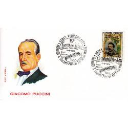 FDC ITALIA Roma 08/08/1974 Giacomo Puccini. AS/VIAREGGIO AD