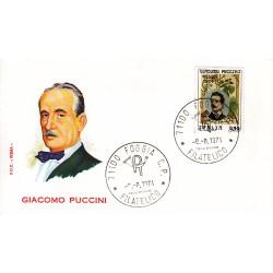 FDC ITALIA Roma 08/08/1974 Giacomo Puccini. A/FOGGIA AD