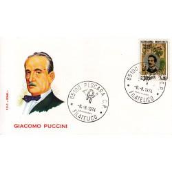 FDC ITALIA Roma 08/08/1974 Giacomo Puccini. A/PESCAR AD