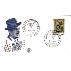 FDC ITALIA Filagrano 08/08/1974 Giacomo Puccini A/GENOVA