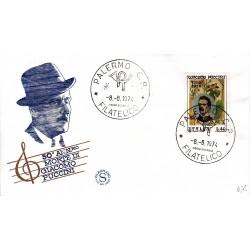 FDC ITALIA Filagrano 08/08/1974 Giacomo Puccini A/MILANO