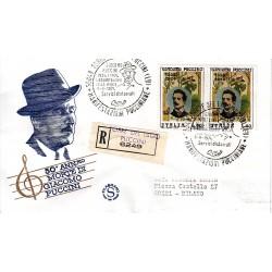 FDC ITALIA Filagrano 08/08/1974 Giacomo Puccini AS/TORRE Raccomandata