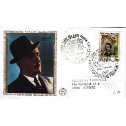 FDC ITALIA Filagrano Gold 08/08/1974 Giacomo Puccini as/torre i