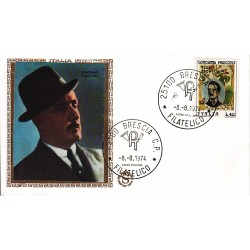 FDC ITALIA Filagrano Gold 08/08/1974 Giacomo Puccini A/BS
